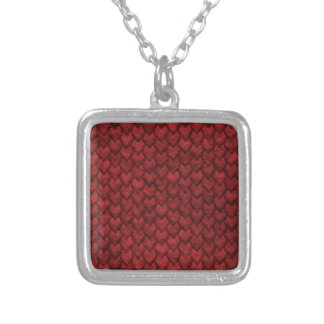 Red Dragon Skin Silver Plated Necklace