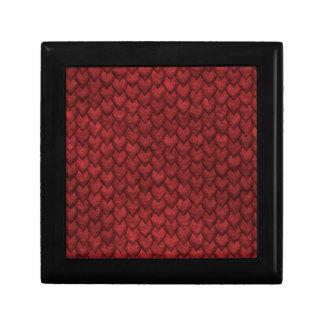 Red Dragon Skin Small Square Gift Box