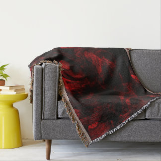 Red Dragon Skin Throw Blanket