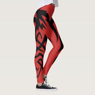 Red Dragon Tail Leggings