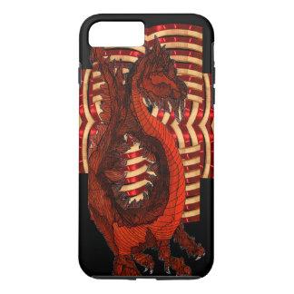 Red Dragon Warrior Armor Black Goth Steampunk Nerd iPhone 7 Plus Case