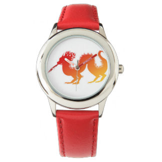 red dragon watch with red strap