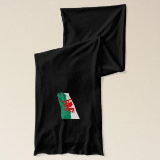 Red Dragon Welsh Flag Patriotic Design Scarf