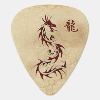 RED DRAGON YEAR OF THE DRAGON Asia Guitar Pick