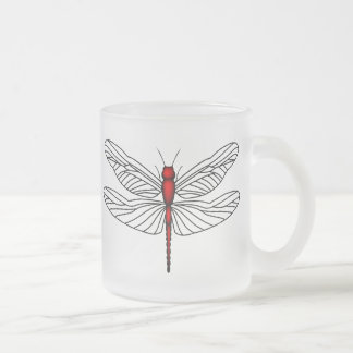 Red Dragonfly Mugs