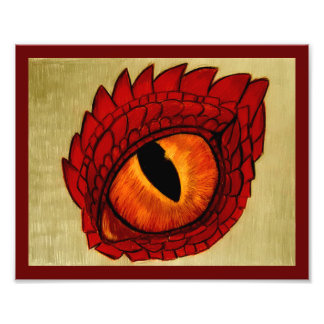 Red Dragon's Eye by Carol Zeock Photo Print