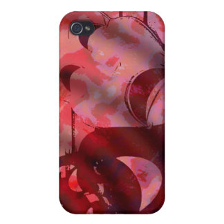 red drama comedy masks cover for iPhone 4