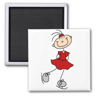 Red Dress Figure Skater Tshirts and Gifts Square Magnet