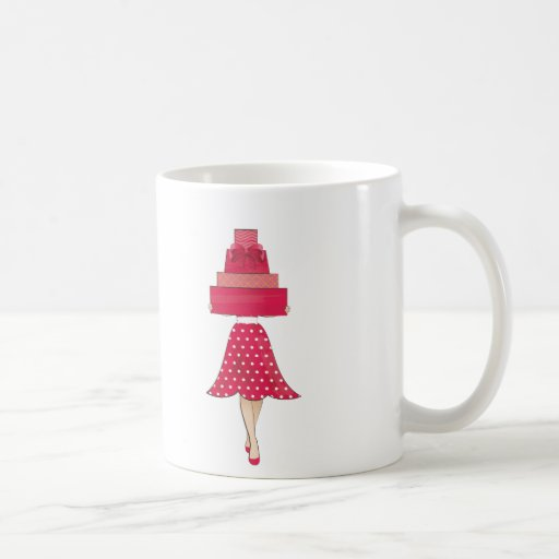Red Dress girl with gifts Coffee Mugs