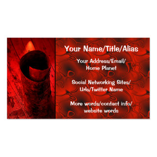 Red Driftwood Curl Pack Of Standard Business Cards