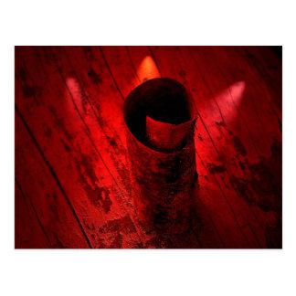 Red Driftwood Curl Postcard