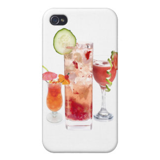 Red Drinks Cases For iPhone 4