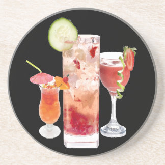 Red Drinks Coasters