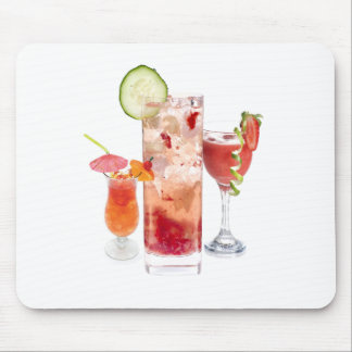 Red Drinks Mouse Pads