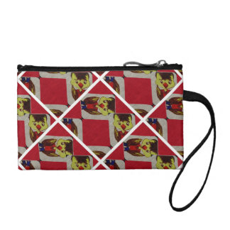 Red Duck Boy Coin Clutch Change Purses