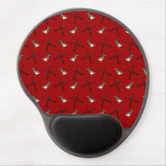 red duck hunting pattern gel mouse pad
