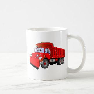 Red Dump Truck Cartoon Mugs