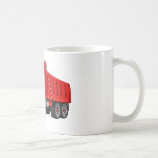 Red Dump Truck Cartoon Coffee Mugs