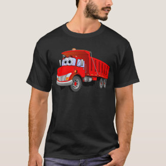Red Dump Truck Cartoon T-Shirt