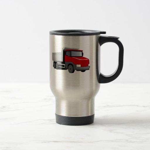 Red Dump Truck Coffee Mug