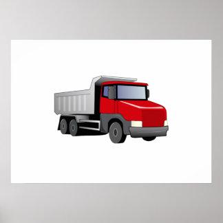 Red Dump Truck Poster