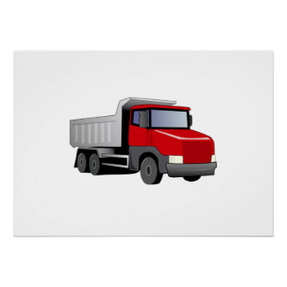 Red Dump Truck Posters