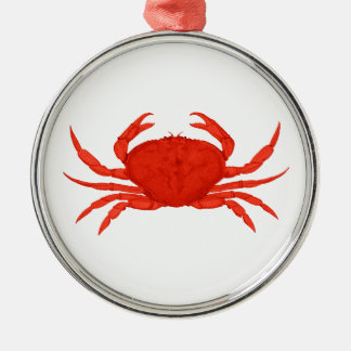 Red Dungeness Crab Logo Metal Ornament