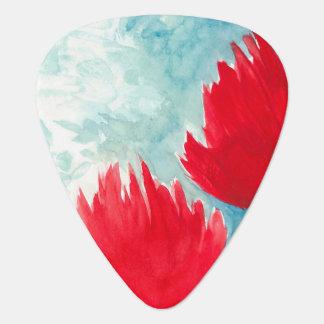 Red Duo Guitar Pick