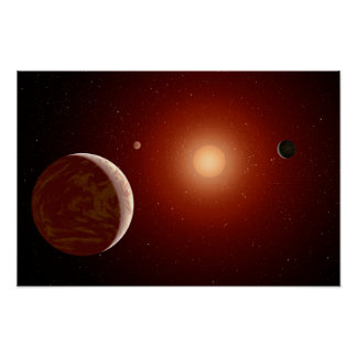 Red Dwarf Star Space Art Posters