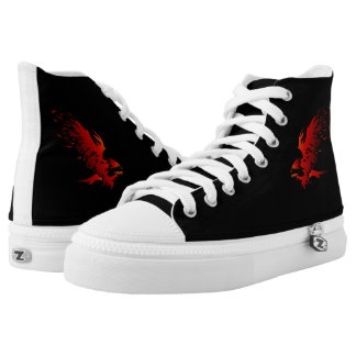 RED EAGLE CUSTOM ZIP HIGH SHOES PRINTED SHOES