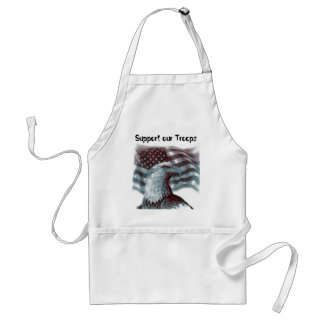 Red Eagle - Patriotic, Support our Troops Standard Apron