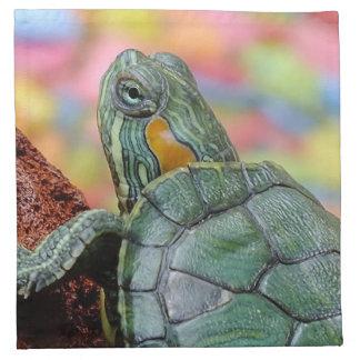 Red-eared slider turtle cloth napkin