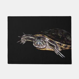 Red Eared Slider Turtle Door Mat