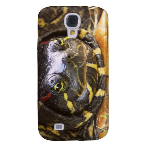 Red Eared Slider Turtle Head Samsung Galaxy S4 Cases