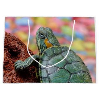 Red-eared slider turtle large gift bag