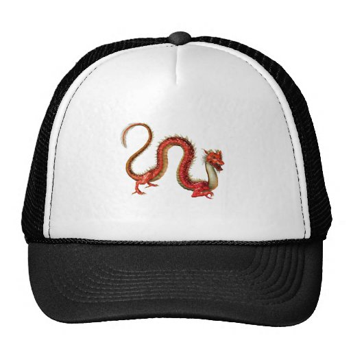 Red Eastern Dragon Mesh Hats