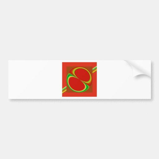 Red Eight Bumper Sticker