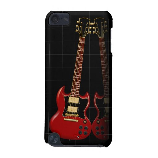 Red Electric Electric Guitar iPod Touch (5th Generation) Case