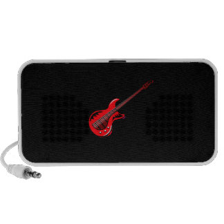 Red Electric Guitar Musical Graphic Design Solo iPod Speaker