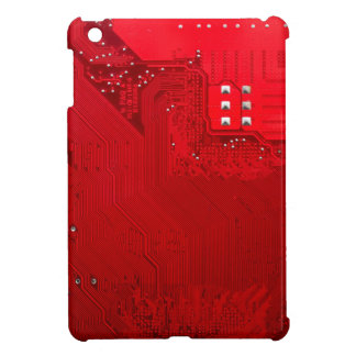 red electronic circuit board.JPG Case For The iPad Mini