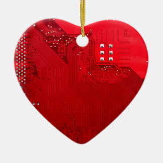 red electronic circuit board.JPG Ceramic Heart Decoration