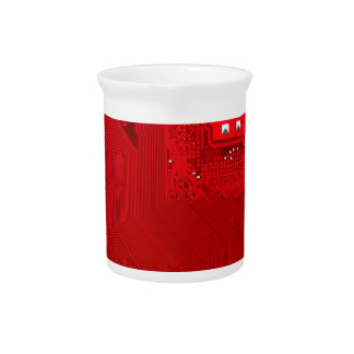 red electronic circuit board.JPG Drink Pitcher