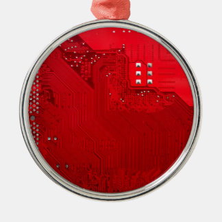 red electronic circuit board.JPG Silver-Colored Round Decoration