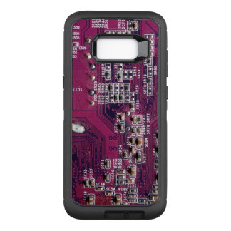 Red Electronic Circuit Board OtterBox Defender Samsung Galaxy S8+ Case