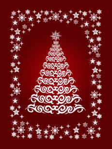 red elegant christmas tree wrapping paper - Elegant Christmas Wrapping Paper