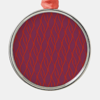 Red elegant pattern Silver-Colored round decoration