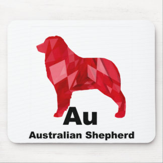 Red Elemental Aussie Mouse Pad
