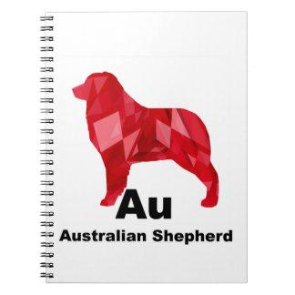 Red Elemental Aussie Spiral Notebook