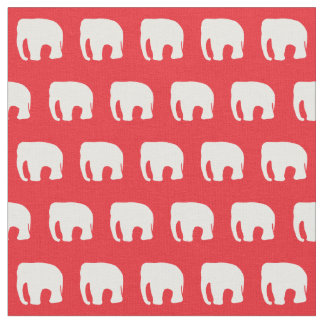 Red Elephant Children's Fabric, Circus Fabric