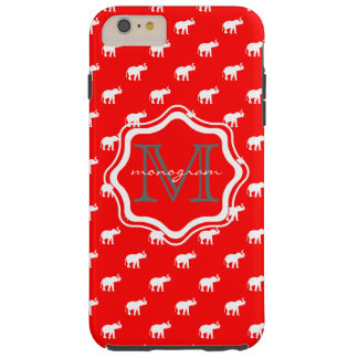 Red Elephant in polkadot Tough iPhone 6 Plus Case